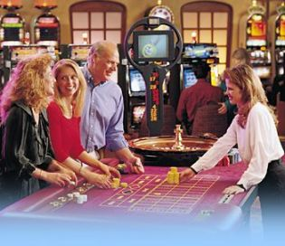 Players at the Roulette table.